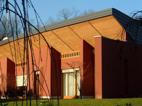 Edificio per sette residenze Arcore dettaglio fronte SudEst